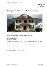 Wohnheim Mosaik Meiringen - Hausregeln - Rehaklinik Hasliberg