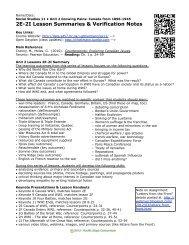 SS11 U2 Summary 2EFGHI