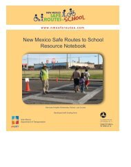 New Mexico Safe Routes to School Resource Notebook