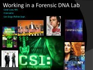 How to Become a DNA Forensic Scientist ... - Palomar College