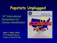 Calculation of Mixture Statistics Using Popstats - Promega