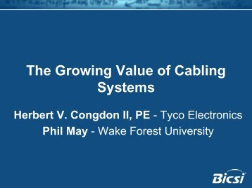 The Growing Value of Cabling Systems