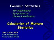 Statistical Treatment of Evidentiary Mixtures - Promega