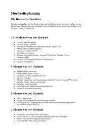 Hochzeitsplanung Die Hochzeits- Checkliste