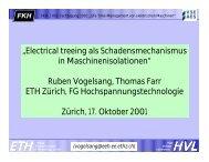 """""""Electrical treeing als Schadensmechanismus in ... - EEH - ETH Zürich"""