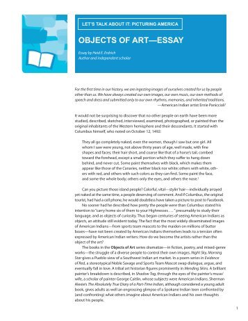 OBJECTS OF ART—ESSAY - Programming Librarian