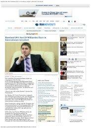 Russland 2011 fast 23 Milliarden Euro in Innovationen investiert ...