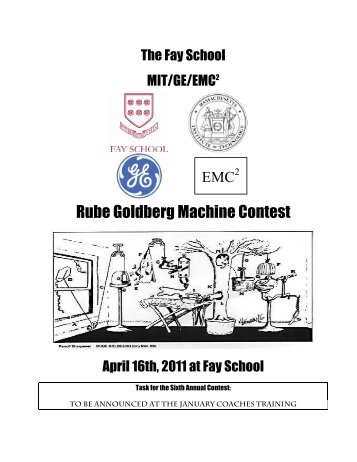 Rube Goldberg Machine Contest - Fay School