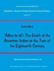 'Adieu to all': The Death of the American Indian at the Turn of the ...