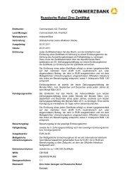 Russische Rubel Zins Zertifikat - Commerzbank - Commerzbank AG