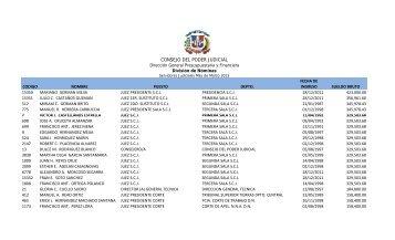 NOMINAS SUELDOS MARZO 2013 - copia - Suprema Corte de ...