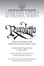 Music by Giuseppe Verdi Libretto by Francesco Maria - Bob Jones ...