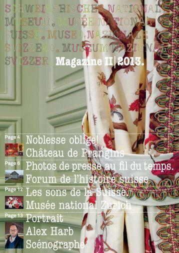 Magazine II|2013. Noblesse oblige! Château de Prangins 8PW\W ...