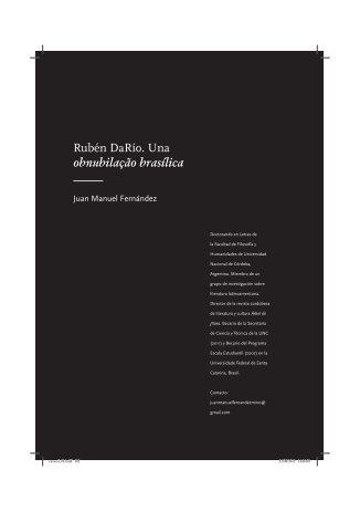 Rubén DaRío. Una obnubilação brasílica - fflch