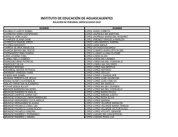 INSTITUTO DE EDUCACIÓN DE AGUASCALIENTES