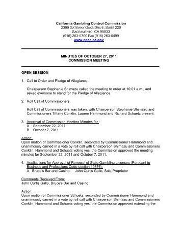 California gambling control commission members indian casino in oklahoma
