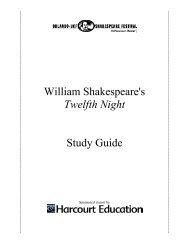 William Shakespeare's Twelfth Night Study Guide - Orlando ...