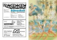 Vereinszeitung des Turnverein Oerlikon November 2011 - TV Oerlikon