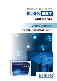 Garantieschein paneele Sky - Ruben