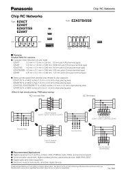 Chip RC Networks - Panasonic
