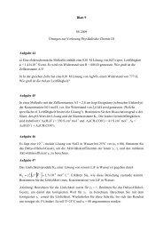 Blatt 9 SS 2009 Übungen zur Vorlesung Physikalische Chemie III ...