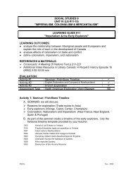 SOCIAL STUDIES 9 UNIT IV (LG #11-15)