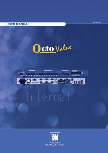 Octo Value - OXE831 User Manual (PDF) - Analog Way