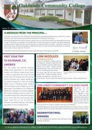 Dec 2011 - Oaklands Community College Edenderry