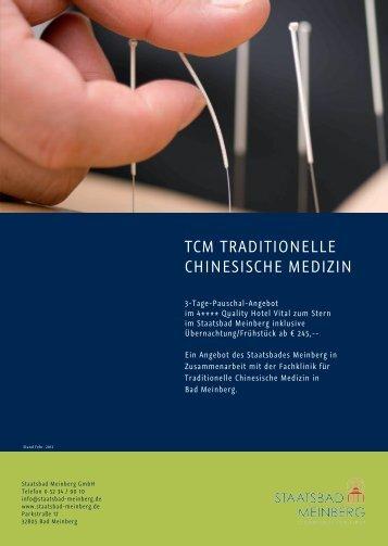 TCM TRADITIONELLE CHINESISCHE MEDIZIN - Staatsbad Meinberg