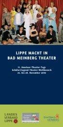 LIPPE MACHT IN BAD MEINBERG THEATER - Staatsbad Meinberg