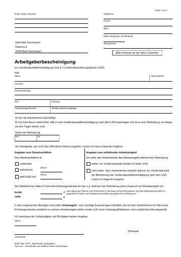 Fax-Nr. - Bad Oeynhausen