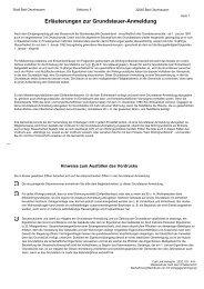 Erläuterungen zur Grundsteuer-Anmeldung - Bad Oeynhausen