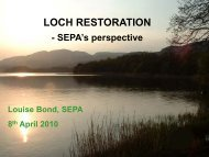 LOCH RESTORATION - Centre for Ecology and Hydrology