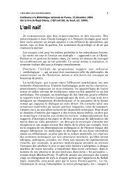 L'œil naïf - Régis Debray