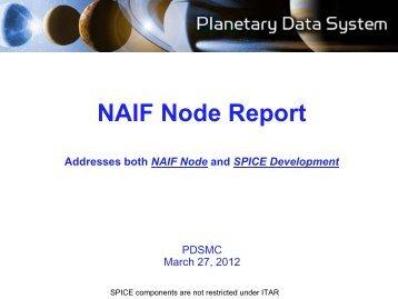 NAIF Node Summary - 1