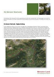 Die Meraner Waalrunde - Intranet Dorf Tirol