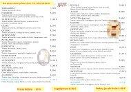 Notre carte à emporter - Restaurant - Alizée