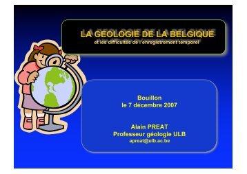 Géologie de la Belgique