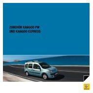 ZUBEHÖR KANGOO PW UND KANGOO EXPRESS - Renault