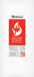 Canada's Sports Hall of Fame — 2011 Induction Dinner