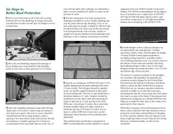 Six Steps to Better Roof Protection - Mississippi-Alabama Sea Grant ...