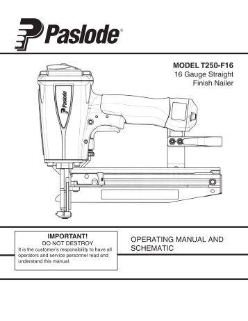 paslode cordless 16 gauge straight finish nailer manual