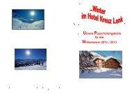 Pauschalangebote Winter 2012-2013 - Hotel Kreuz Lenk