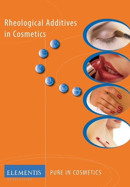 Rheological Additives in Cosmetics - Elementis Specialties