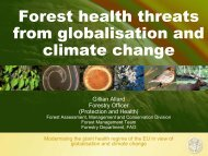 Forest health threats from globalisation and climate change - IMPACT