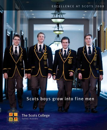 Scots boys grow into fine men - The Scots College