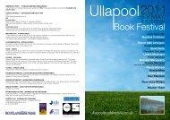 Ull 2011 LEAFLET Screen - Ullapool Book Festival