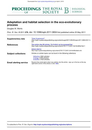 Adaptation and habitat selection in the eco-evolutionary process