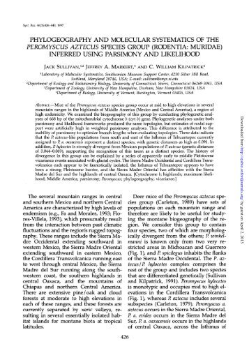 phylogeography and molecular systematics of the peromyscus ...