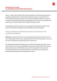 Checkliste fuer Vereine zur Umstellung auf die SEPA-Zahlverfahren